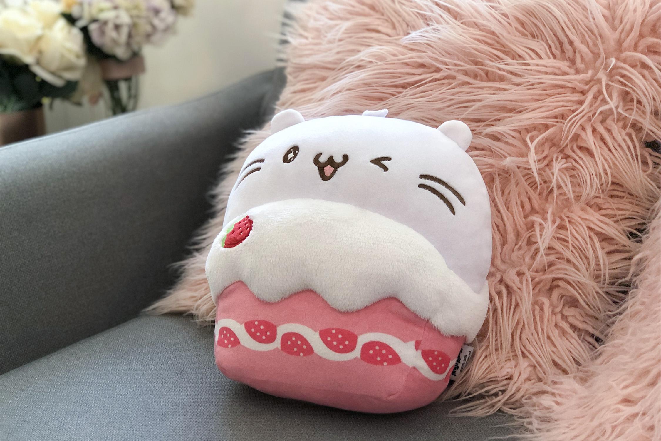 麻吉貓抱枕毯